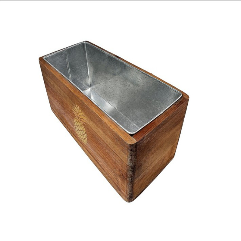 Promo mini wooden wine cooler bucket