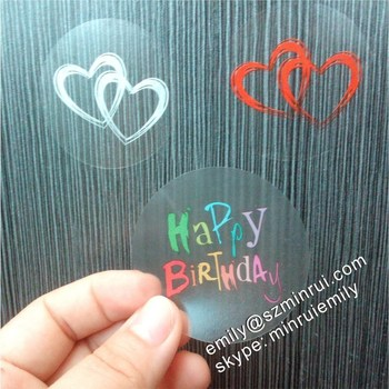Clear Round Stickers,Diecut Label Sheet Blank,Custom Clear Vinyl Stickers  Printing