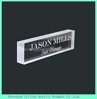 engraved printing logo acrylic block name plate stand display buy