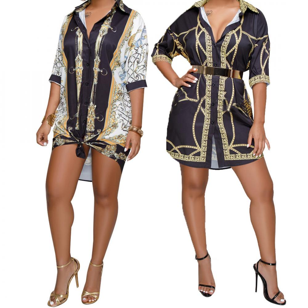 African dress designs printed breathable long sleeve plus size dress t shirt dress фото