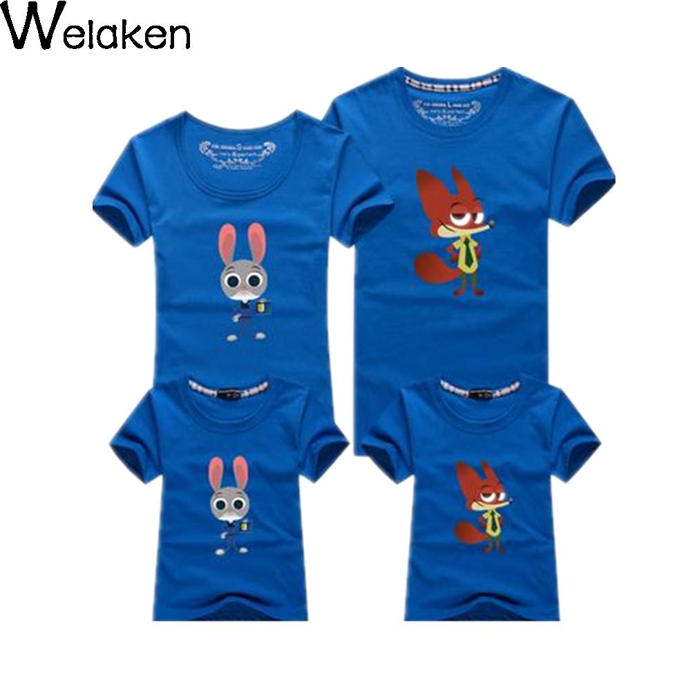 New Arrival 2016 Family Look Summer Cotton Mouse T Shirt Dad Mum Son Daughter Couple Clothres