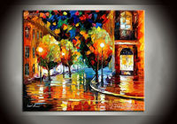 Handpainted Light Up Led Canvas Painting For Living room Painting With Frames Stretched Home Decoration