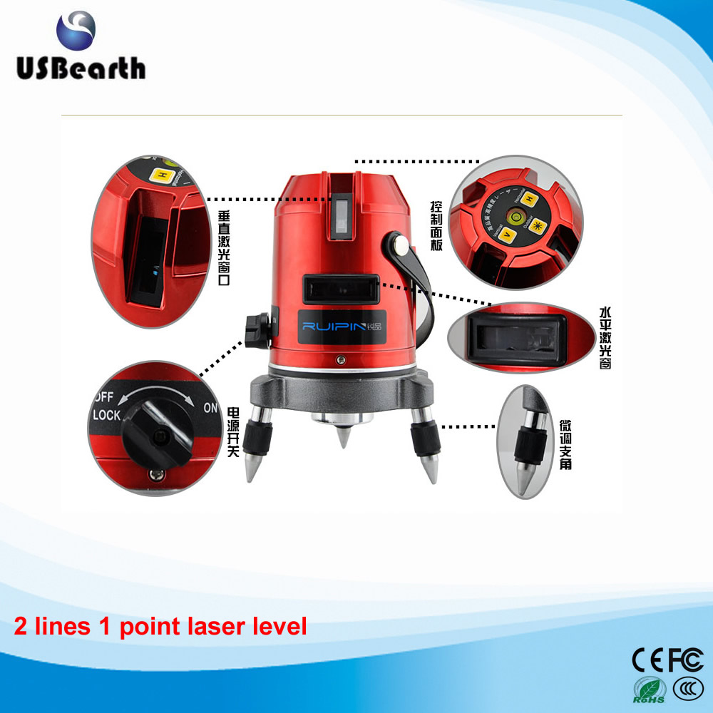 Hot sale 2 lines 1 point Cross line laser laser level infrared rotary laser level. Free shipping