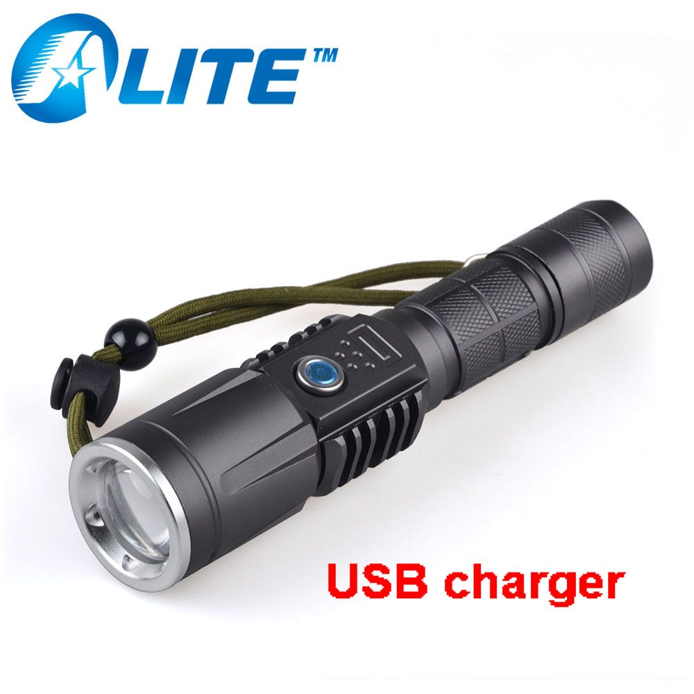 YT-1875 Mobile Phone USB charger zoom flashlight 2000LM 5W rechargeable T6 flashlight