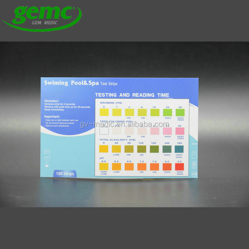 Easy test for pool & spa test strips,pool test,test strip pool