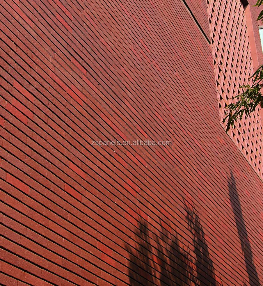 Dekorative Außen Feuerte Klinker Wandfliesen, Außen Ton Blocks Bricks  Fassadenziegel, Gebäude Terrakotta Wall