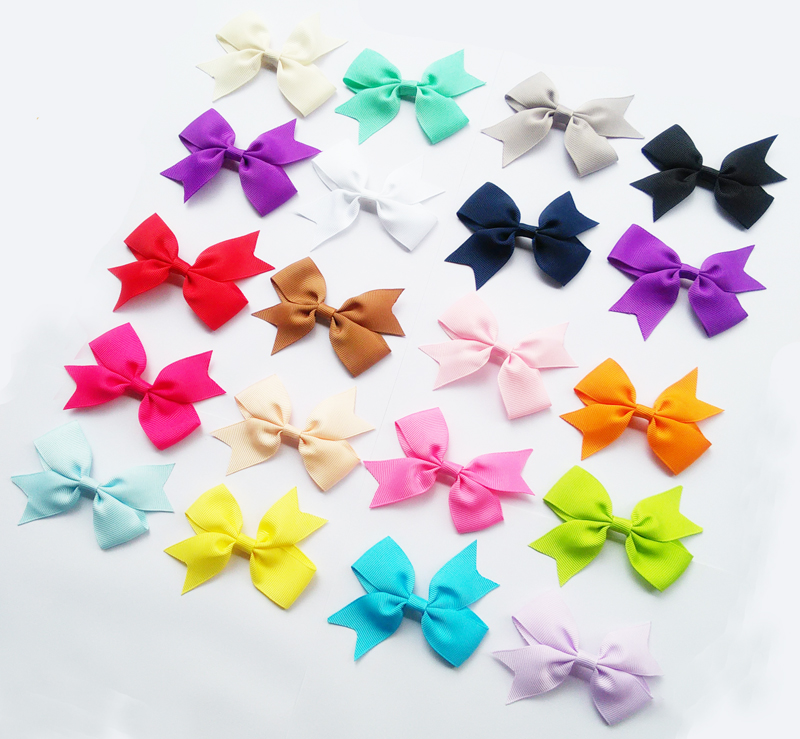 3inch Solid Colour Baby Ribbon Bows For elastic Headbands Baby Girls Ribbon Bows Diy Hair Accessories 50pcs Per Lot