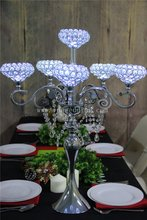 Sales NO.1 crystal centerpiece,Wedding Event Centerpieces Decoration & Led Party Festa Light Include Battery