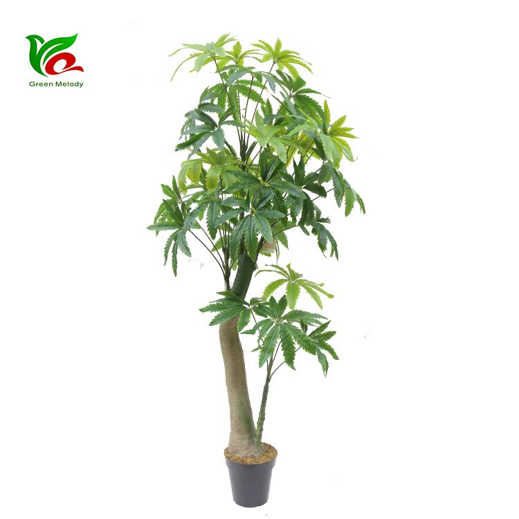 Fornitore della cina di fabbrica pianta artificiale ornamento albero di sega a mano artificiale pianta soldi albero decorazione bonsai