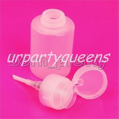 2pcs Set 150ml Pump Dispenser Bottle Nail Art Acetone Polish Makeup Remover 177
