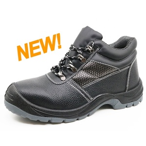 2019 new fashion leather steel toe construction safety shoes boots