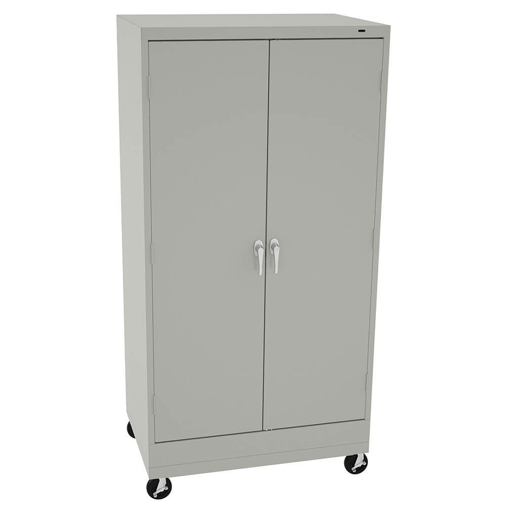 Get Quotations · Tennsco   CK6624DHLG   Mobile Storage Cabinet, Light Gray,  73 Overall Height, Assembled