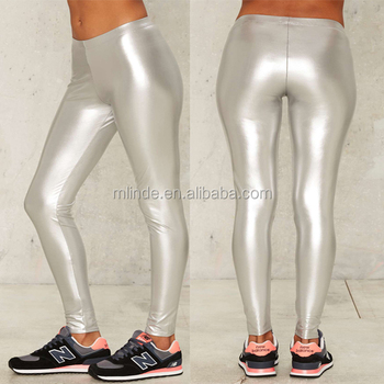 Sexy silver leggings