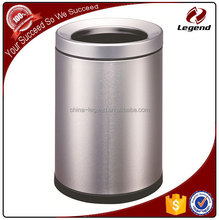 Household standing colorful round metal kitchen bin recycling