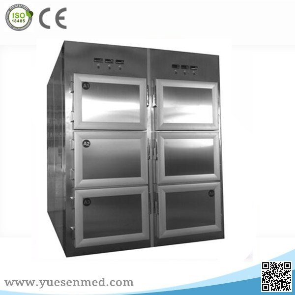 YSSTG0106 304 stainless steel 6 corpses mortuary body refrigerators