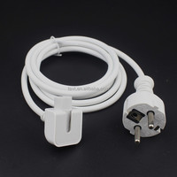 EU Plug extension cord AC Power Adapter Wall Charger Cable Cord for MacBook charger