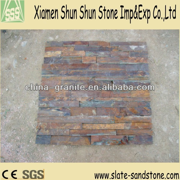 Sale rusty stone culture slate for wall cladding