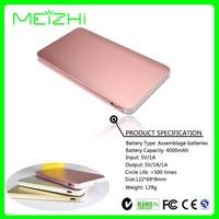 Slim Battery Power Bank 4000mah Ultra Thin External Portable Mobile Phone Battery Charger Backup