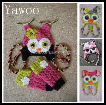 Yawoo Christmas Baby Owl Hats With Gloves Sets So Cute Winter Baby