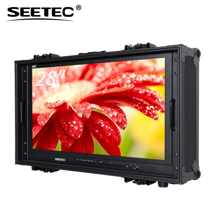 "28"" Widescreen Full HD Rack Mount 3G SDI Broadcast <strong>Monitor</strong> 60hz 4k"