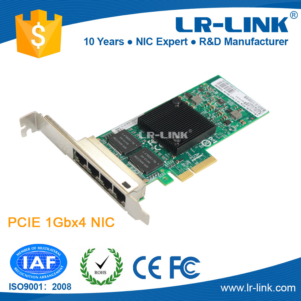 LREC9704HT Intel 82580 PCI Express Server RJ45 adapter 4 port Network Card