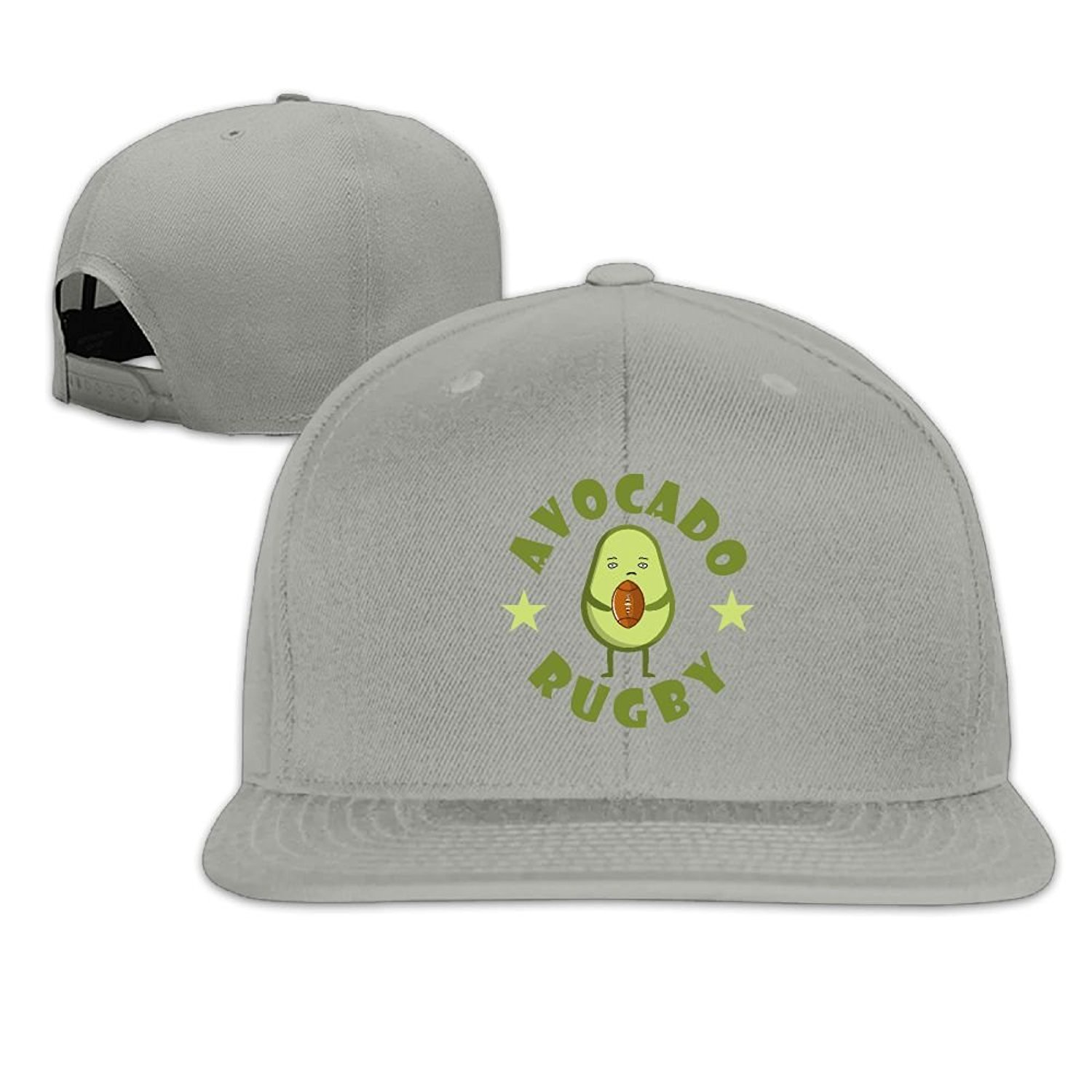 7bd47514424 Get Quotations · Cute Lovely Funny Avocado Rugby Football Hip Hop Snapback  Baseball Caps For Men Women