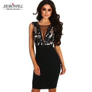 f9db37f5a35 China Mesh Sequin Dress