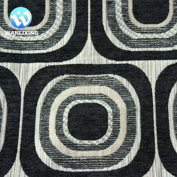Jacquard Chenille Upholstery Fabric With Geometric Pattern Chenille