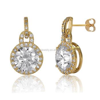 Gold Beautiful Designed Earrings Diamond Stud For Men