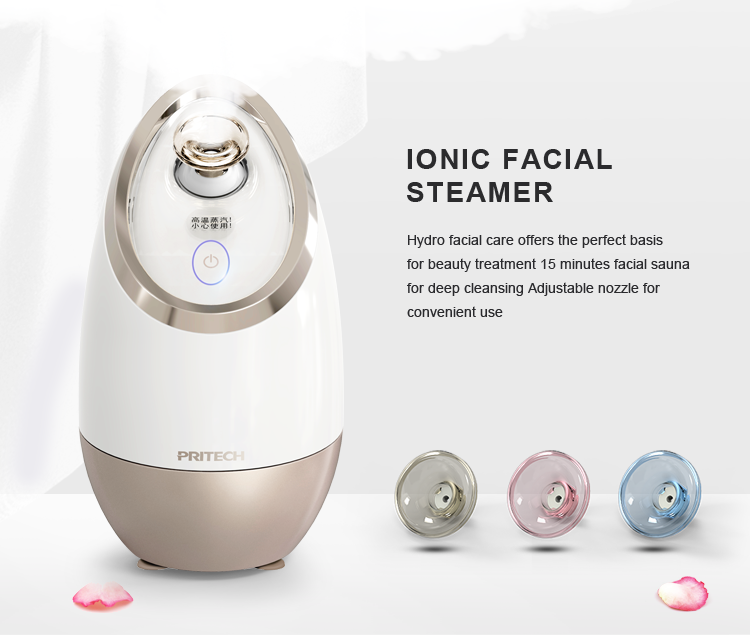 PRITECH Wholesale Lady Beauty Care Professional Ozone Sterilization Ionic Facial Steamer