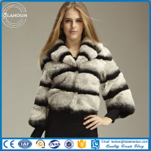 LUXURY Chinchilla Rabbit fur Rex rabbit fur for coat
