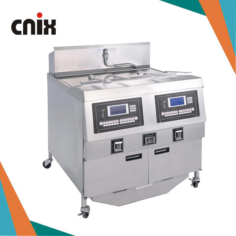 CNIX Gas power source 25+25L capacity <strong>commercial</strong> <strong>deep</strong> <strong>fryer</strong> with industrial price ofg-322l