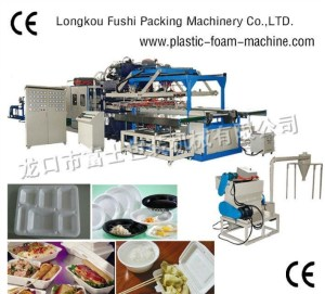 BEST SELLING PS THERMOCOL SNACK PLATES/TRAYS/BOWLS/CONTAINER/BOX MAKING MACHINE , AUTOMATIC LUNCH BOX MACHINE