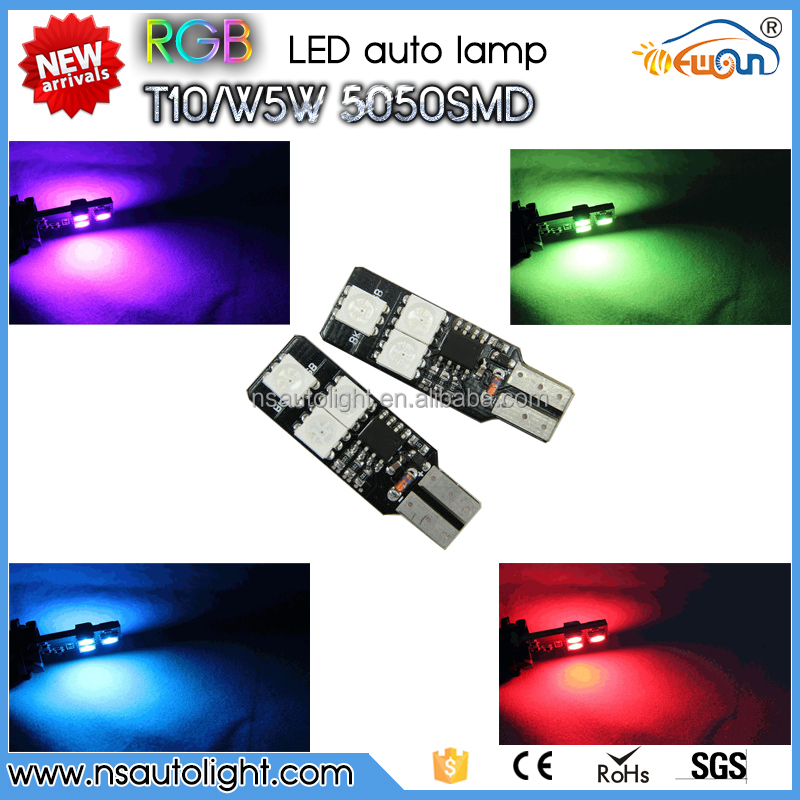 New design canbus 3W high power RGB T10 led strobe light led light car