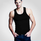 Plain dye combed cotton sexy man vest Body building stringer vest
