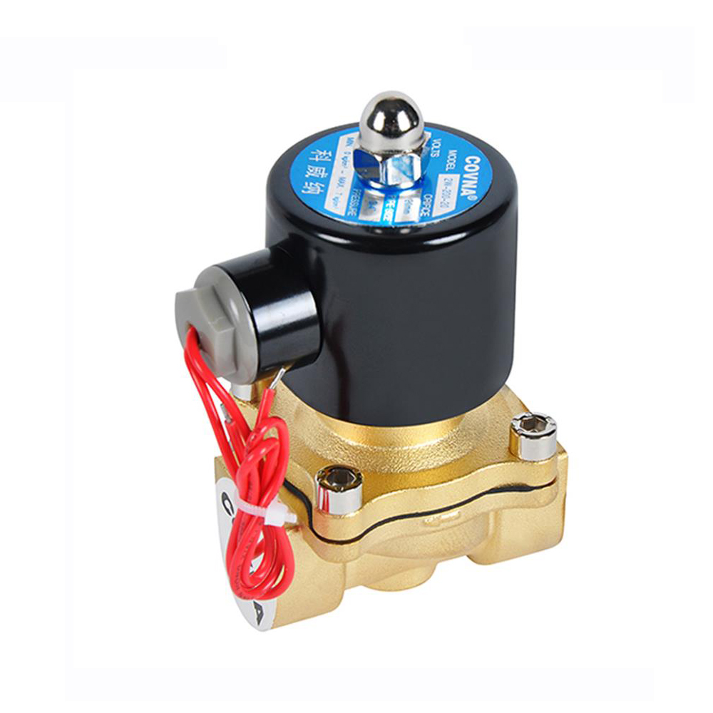 COVNA DN15 1/2 inch 2 Way 12 Volt Normally Closed Brass Propane Gas Solenoid <strong>Valve</strong>