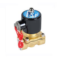 COVNA DN15 1/2 inch 2 Way 12 Volt Normally Closed Brass Propane Gas Solenoid Valve