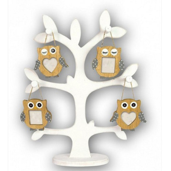 Handmade Wood Hanging Owl Picture Frame For Kids Gift - Buy Wood Owl ...
