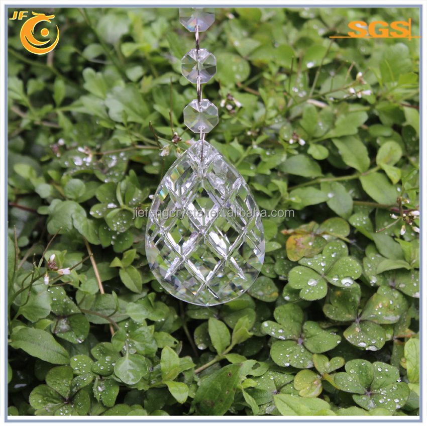 Almond shape crystal chandelier hanging parts
