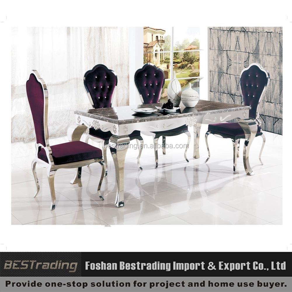 Mesa comedor bases para la tapa de cristal acero for Bases de mesas cromadas
