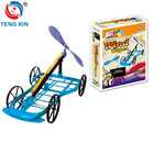 DIY wind powered car children learning toys
