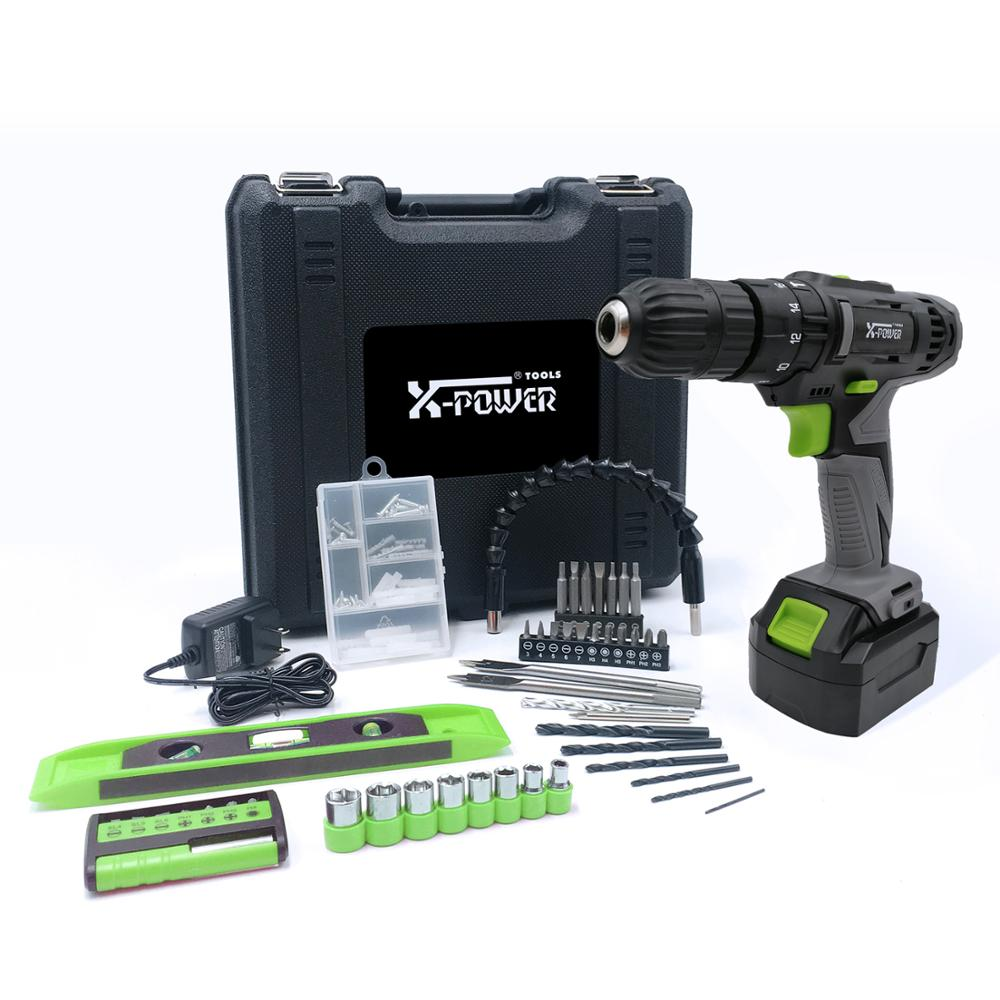 KCD330L-C40PCS Cordless <strong>drill</strong> 18V lithium Max 25N.m Battery Electric hammer <strong>drill</strong> with Powerful motor