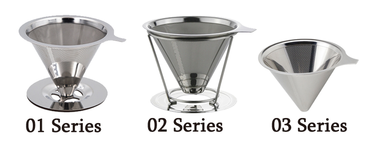 97*60mm stainless steel coffee dripper 8 Cups Cone Strainer 62MM Filter Brewing Disc