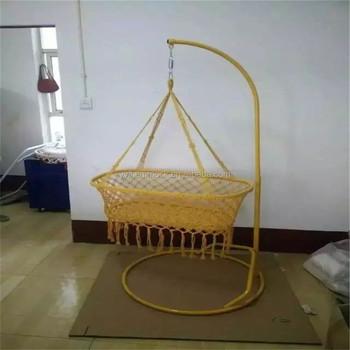 Durable Baby Swing Bed Handmade Crib Rattan Cradle