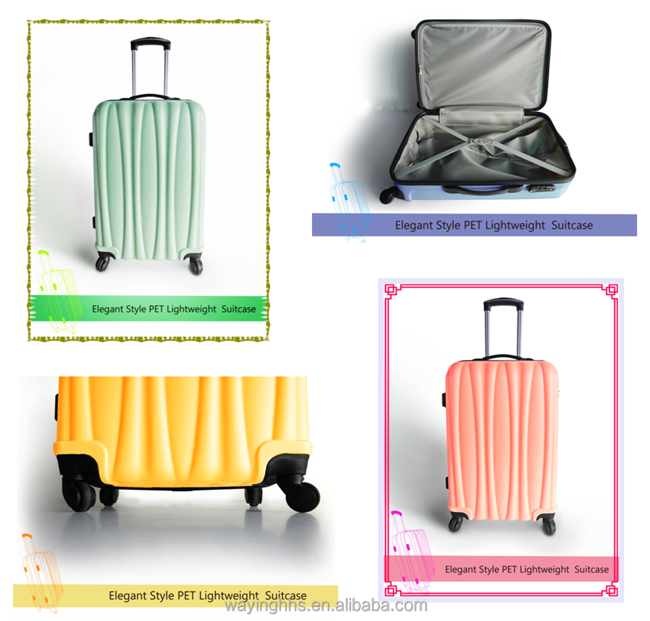 Gehumaniseerd Ontwerp PET travel Trolley Koffers Bagage Tas