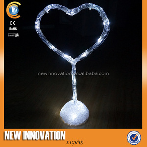 16L White Acrylic Heart Motif Light Corporate Gift