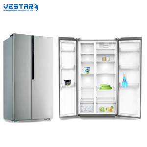 Saving energy side by side double door 580 refrigerator and freezer with wine bar