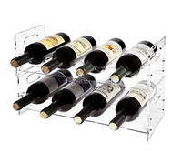 Customized design acrylic modern clear plastic wine rack