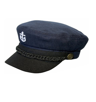 Bsci Audit Wholesale Old Style Cotton Flat Top Hat Sailor Navy Cap ... 6310ece2fff