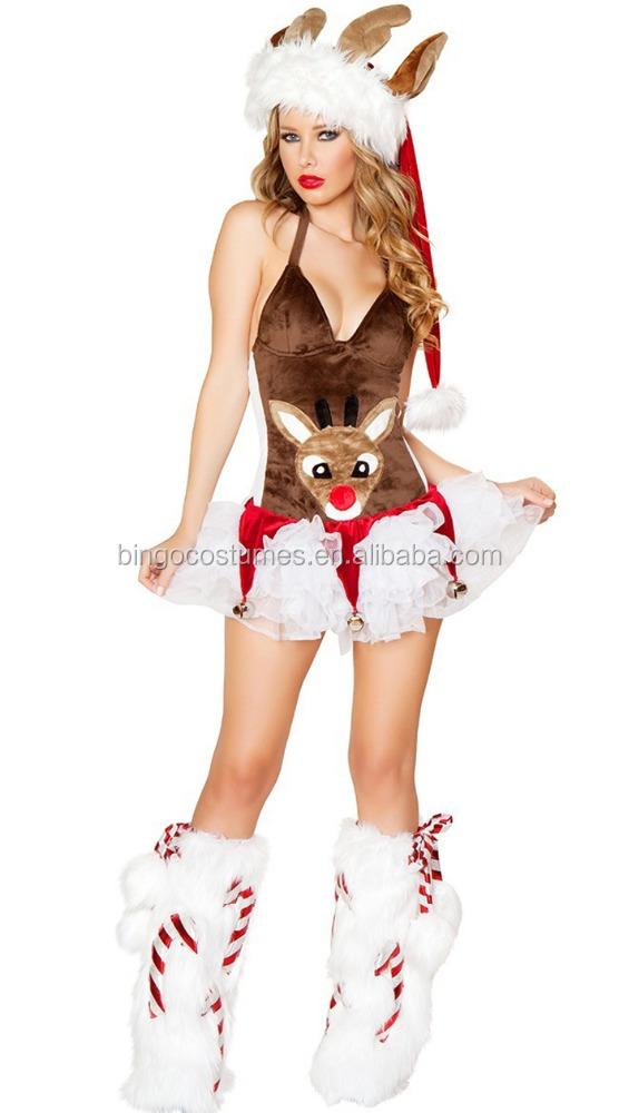 ciervos del reno de santa claus traje de la mascota para adultos traje de la mascota